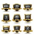 set of 100 percent guarantee golden labels vector image