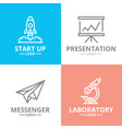 set of startup and business logo or vector image vector image