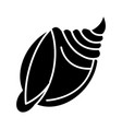 shell big icon black sign on vector image