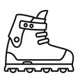 small wheel inline skates icon outline style vector image
