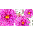 spring flowers banner watercolor beautiful vector image vector image