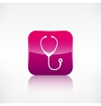 Stethoscope iconApplication button vector image