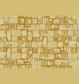stone wall background seamless vector image vector image