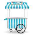 street food cart ice cream vector image