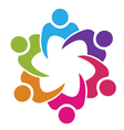 Teamwork union people logo vector image vector image