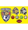 template for sports logo with a lion head and vector image vector image