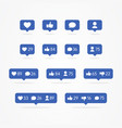 tooltip speech bubble social network icons vector image