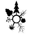 trees variety circle stencil vector image