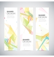 vertical banners set with polygonal abstract vector image vector image