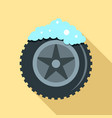 wash car tire icon flat style vector image