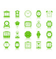 watch color silhouette icons set vector image vector image