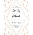 wedding abstract invite invitation save date card vector image