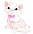 White Kitten vector image vector image