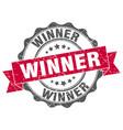 winner stamp sign seal vector image vector image