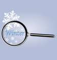 winter under the magnifying glass vector image vector image
