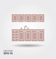 kitchen modern furniture icon vector image
