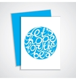 Lettering element in blue color vector image
