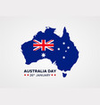 26th january happy australia day greeting card vector image vector image