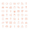 49 dessert icons vector image vector image