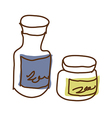 A pair of bottles vector image vector image