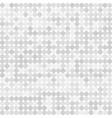 Abstract digital grey circles on white background vector image vector image