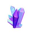 amethyst mineral crystalic precious stones vector image vector image