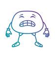 angry face emoji character vector image