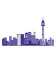 australia city buildings landmark panorama vector image vector image