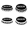 beer bottle cap black symbol vector image vector image