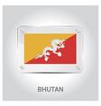 bhutan flag design vector image