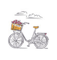 bike in amsterdam isolated on white background vector image