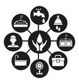 black silhouette icons plumbing connected to vector image vector image