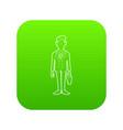 businessman with briefcase icon green vector image vector image