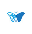 butterfly icon design template isolated vector image