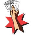 cards royal flush vector image