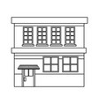 cartoon building grocery store facade vector image