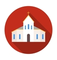 Church icon in flat style isolated on white vector image