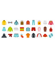 clothes icon set flat style vector image vector image