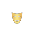 comedy mask computer symbol vector image vector image