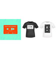 compact cassette retro t-shirt print stamp for tee vector image