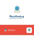 creative disk avatar logo design flat color logo vector image