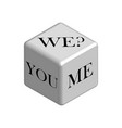 dice concept do it together in 3d vector image vector image