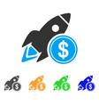 dollar rocket icon vector image