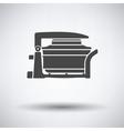 Electric con oven icon vector image vector image