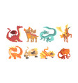 fantastic mythological creatures and beasts vector image vector image