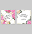 floral template for a wedding invitation a corners vector image vector image
