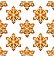 Gingerbread snowflakes seamless pattern vector image vector image