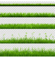 green grass borders big set vector image