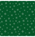 Green snowflalls seamless pattern Christmas vector image vector image