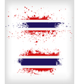 Grunge Thai ink splattered flag vector image vector image